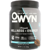 OWYN Ultimate Wellness + Energy 100% Plant-Based Powder Cold Brew Coffee 1.2 lb (546 g)