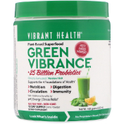 Vibrant Health Green Vibrance +25 Billion Probiotics Version 18.0 5.82 oz (165 g)