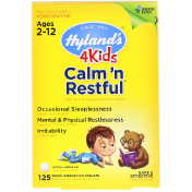 Hyland's 4 Kids Calm' n Restful Ages 2-12 125 Quick-Dissolving Tablets