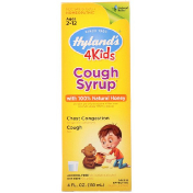 Hyland's 4 Kids Cough Syrup with 100% Natural Honey Ages 2-12 4 fl oz (118 ml)
