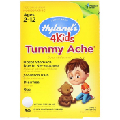Hyland's 4Kids Tummy Ache Ages 2-12 50 Quick-Dissolving Tablets