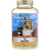 Actipet Brewer's Yeast For Dogs & Cats Natural Beef & Garlic Flavor 90 Chewable Tablets