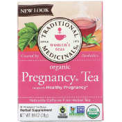 Traditional Medicinals Women's Tea Organic Pregnancy Tea Caffeine Free 16 Wrapped Tea Bags .99 oz (28 g)