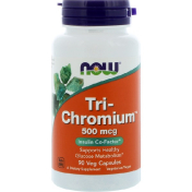Now Foods Tri-Chromium 500 мкг 90 вегетарианских капсул