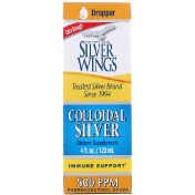 Natural Path Silver Wings Colloidal Silver Extra Strength 500 PPM 4 fl oz (120 ml)
