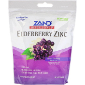 Zand HerbaLozenge Elderberry Zinc Sweet Elderberry 80 Lozenges