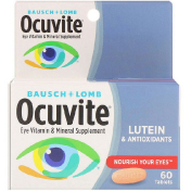 Bausch & Lomb Eye Vitamin & Mineral Supplement Lutein & Antioxidants 60 Tablets