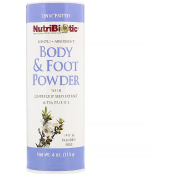 NutriBiotic Body & Foot Powder with Grapefruit Seed Extract & Tea Tree Oil Unscented 4 oz (113 g)