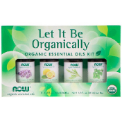Now Foods Let It Be Organically Organic Essential Oils Kit 4 Bottles 1/3 fl oz (10 ml) Each