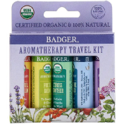 Badger Company Aromatherapy Travel Kit 5 Pack .15 oz (4.3 g) Each
