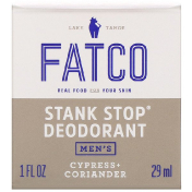 Fatco Stank Stop Natural Deodorant Men's Cypress + Coriander 1 fl oz (29 ml)