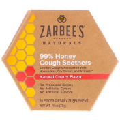 Zarbee's 99% Honey Cough Soothers Natural Cherry Flavor 14 Pieces