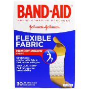 Band Aid Adhesive Bandages Flexible Fabric 30 Bandages