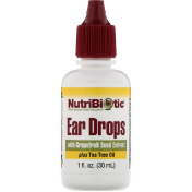 NutriBiotic Ear Drops with Grapefruit Seed Extract plus Tea Tree Oil 1 fl oz (30 ml)