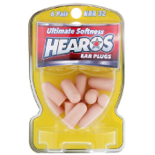 Hearos Ear Plugs Ultimate Softness High NRR 32 6 Pair