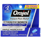 Orajel Instant Pain Relief For All Mouth Sores Fast - Acting Gel 0.42 oz (11.9 g)