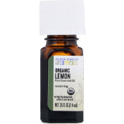 Aura Cacia Organic Lemon .25 fl oz (7.4 ml)