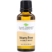 Plant Therapy 100% Pure Essential Oil Worry Free Synergy Blend 1 fl oz (30 ml)