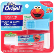 Orajel Elmo Tooth & Gum Cleanser Fluoride-Free Fruity Fun For 3-24 Months 0.7 oz (19.8 g)