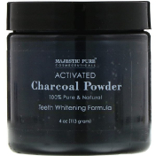 Majestic Pure Activated Charcoal Powder Teeth Whitening Formula 4 oz (113 g)