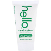 Hello Naturally Whitening Fluoride Toothpaste Farm Grown Mint 1 oz (28.3 g)