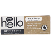 Hello Activated Charcoal Epic Whitening Fluoride Toothpaste 4.0 oz (113 g)