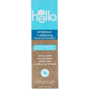 Hello Antiplaque + Whitening Fluoride Free Toothpaste Natural Peppermint 4.7 oz (133 g)