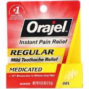 Orajel Regular Mild Toothache Relief Medicated 0.25 oz (7.0 g)