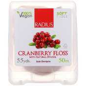 RADIUS Cranberry Floss with Natural Xylitol 55 yds (50 m)