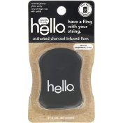 Hello Activated Charcoal Infused Floss Natural Peppermint Flavor 54.6 Yards