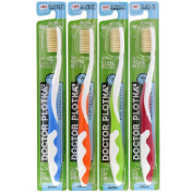 Dr. Plotka Antimicrobial Toothbrush with Flossing Bristles 4 Adult Toothbrushes