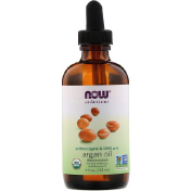 Now Foods Solutions Certified Organic & 100% Pure Argan Oil 4 fl oz (118 ml)