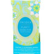 Pacifica Purify Facial Cleansing Wipes All Skin Types 30 Pre-Moistened Natural Towelettes