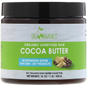 Sky Organics Cocoa Butter Organic Unrefined Raw 16 oz (454 g)