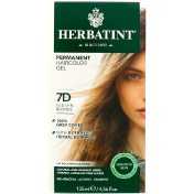 Herbatint Permanent Haircolor Gel 7D Golden Blonde 4.56 fl oz (135 ml)