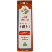 Badger Company Organic Botanical Hair Oil Argan Jojoba & Baobab 2 fl oz (59.1 ml)