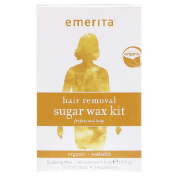 Emerita Hair Removal Sugar Wax kit for Face and Body Organic 5.5 oz (155 g)