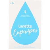Lunette Cupwipe Menstrual Cup Cleanser On The Go 10 Wipes