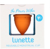 Lunette Reusable Menstrual Cup Model 1 For Light to Normal Flow Orange 1 Cup