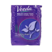 Veeda Natural Cotton Pads with Wings Ultra Thin Night 12 Pads