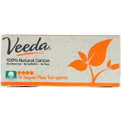 Veeda 100% Natural Cotton Tampon Super Plus 16 Tampons