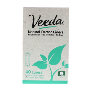 Veeda Natural Cotton Liners Unscented 40 Liners