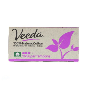 Veeda 100% Natural Cotton Tampon Super 16 Tampons