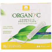 Organyc Organic Tampons Compact 16 Regular Absorbency Tampons