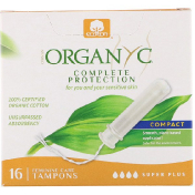 Organyc Organic Tampons Compact 16 Super Plus Absorbency Tampons