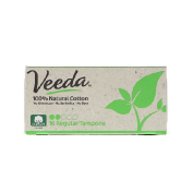 Veeda 100% Natural Cotton Tampon Regular 16 Tampons