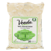 Veeda 100% Natural Cotton Feminine Wipes 20 Wipes