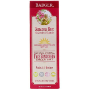 Badger Company Natural Mineral Face Sunscreen Sheer Tint SPF 25 Damascus Rose 1.6 fl oz (47 ml)