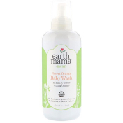 Earth Mama Baby Sweet Orange Baby Wash Vanilla Orange 34 fl oz (1 l)