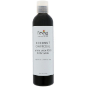 Reviva Labs Coconut Charcoal White Lava Rock Body Wash 8 fl oz (236 ml)